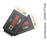3d realistic tickets for cinema.... | Shutterstock .eps vector #1098177134