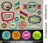 vintage and retro design vector ... | Shutterstock .eps vector #109818251