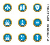 trestle icons set. flat set of... | Shutterstock .eps vector #1098184817
