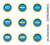 overpass icons set. flat set of ... | Shutterstock .eps vector #1098184841