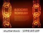 block chain. crypto currency.... | Shutterstock .eps vector #1098185189