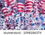 american flag decorations for... | Shutterstock . vector #1098186374