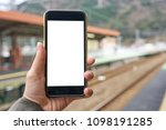 the tourist use your smartphone ... | Shutterstock . vector #1098191285