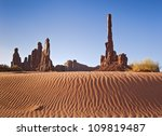 Totem Pole Rock Formation In...