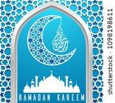 ramadan kareem greeting card... | Shutterstock .eps vector #1098198611