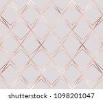 luxury rose gold geometric... | Shutterstock .eps vector #1098201047