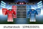football or world championship... | Shutterstock .eps vector #1098203051