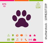 paw icon symbol | Shutterstock .eps vector #1098207209