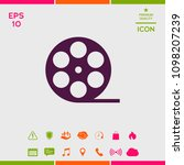 reel film symbol icon   Shutterstock .eps vector #1098207239