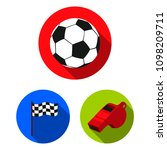 different kinds of sports flat... | Shutterstock .eps vector #1098209711