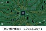 vector eps10.circuit board.... | Shutterstock .eps vector #1098210941