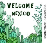 mexico background. collection... | Shutterstock .eps vector #109821311
