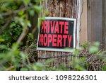 Closeup Of A Private Property...