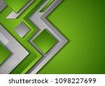 abstract green tech geometric...   Shutterstock .eps vector #1098227699