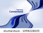 abstract curve wave flow... | Shutterstock .eps vector #1098228035