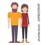 young couple avatars characters | Shutterstock .eps vector #1098229049