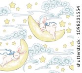 seamless pattern with cute... | Shutterstock .eps vector #1098231554