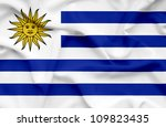 uruguay waving flag | Shutterstock . vector #109823435