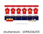 spain football or soccer team... | Shutterstock .eps vector #1098236255