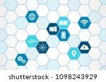 technology icons   hexagon...   Shutterstock .eps vector #1098243929