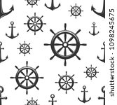nautical seamless pattern with... | Shutterstock .eps vector #1098245675