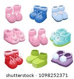 baby booties  socks  vector | Shutterstock .eps vector #1098252371