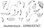 doodle hand drawn vector arrows ... | Shutterstock .eps vector #1098255767
