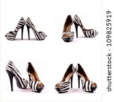 High Heels Collage Isolated On...