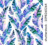 seamless iridescent palm... | Shutterstock . vector #1098260264