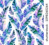 seamless iridescent palm... | Shutterstock . vector #1098260264