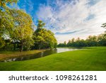 green tree forest field with... | Shutterstock . vector #1098261281