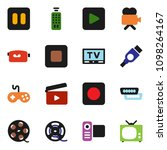 solid vector icon set   cinema... | Shutterstock .eps vector #1098264167