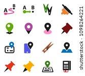solid vector icon set  ... | Shutterstock .eps vector #1098264221