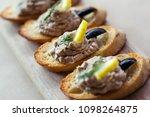 italian bruschetta sandwiches... | Shutterstock . vector #1098264875