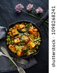 tofu with vegetables sprinkled... | Shutterstock . vector #1098268241