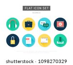 business flat vector icon set | Shutterstock .eps vector #1098270329