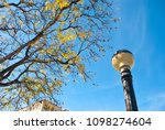 antique streetlamp on blue sky... | Shutterstock . vector #1098274604