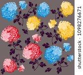 flowers pattern chrysanthemum...   Shutterstock .eps vector #1098276671