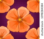 Vector Cosmos Flower Seamless...