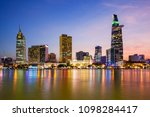 ho chi minh city skyline aerial ... | Shutterstock . vector #1098284417