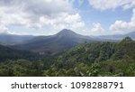 an active volcano  kintamani in ... | Shutterstock . vector #1098288791