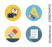 icons paint accessory with text ... | Shutterstock .eps vector #1098296951
