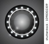 realistic round glass lamp or...   Shutterstock .eps vector #1098302309