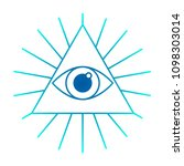 all seeing eye  line icon....   Shutterstock .eps vector #1098303014