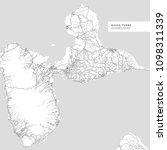 map of basse terre island ...   Shutterstock .eps vector #1098311339
