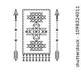 carpet and arrows. design...   Shutterstock .eps vector #1098324011