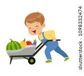 cute little boy character... | Shutterstock .eps vector #1098332474