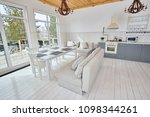 wide angle shot of modern open... | Shutterstock . vector #1098344261