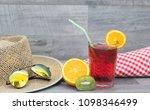 summer holiday cocktail glass | Shutterstock . vector #1098346499
