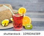 summer holiday cocktail glass | Shutterstock . vector #1098346589